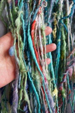 Handspun yarn from Lollyarn.