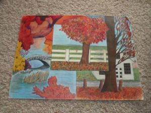 Assorted treed landscapes. Colored pencil. 1999-2000.