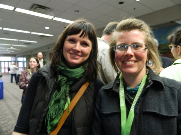 Heidi Demars and Rachel Brazil talking food, education, and community development. Meeting like-minded folks was by far the highlight of my experience at the conference
