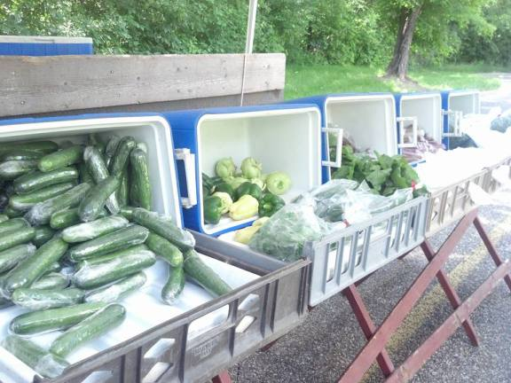 Produce from Dwight Duke's Skyline Ranch stand at the Farmers Market